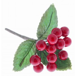 Berries - Metallic Red (1cm diameter, 6 bunches per pk)
