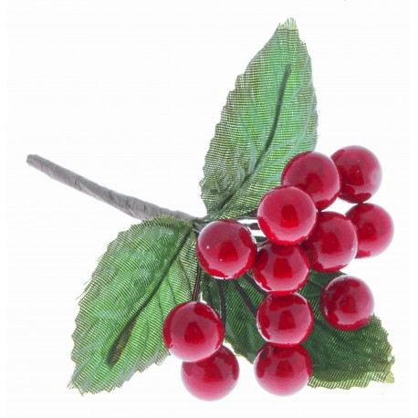 Berries - Metallic Red (6 bunches per pk)