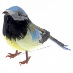 Feathered Blue Tit - Natural (13cm Long, 6pcs per pk)