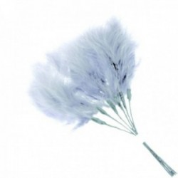 Fluffy Feathers - Grey (24cm Long, 6pcs per pk)