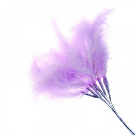 Fluffy Feathers - Mauve (24cm Long, 6pcs per pk)