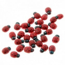Ladybird Stickers - Red (2cm Diameter, 25pcs per pk)