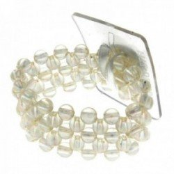 Little Lady Kids Corsage Bracelet - Clear Iridescent (6cm Diameter, 2pcs per pk)