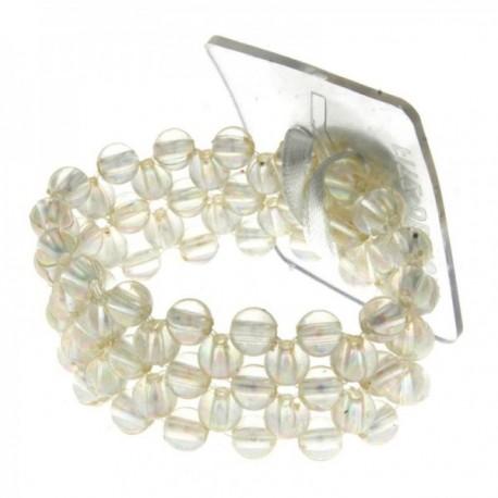 Little Lady Kids Corsage Bracelet - Clear Iridescent (6cm Diameter, 2pcs per pk)