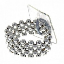 Little Lady Kids Corsage Bracelet - Silver (6cm Diameter, 2pcs per pk)