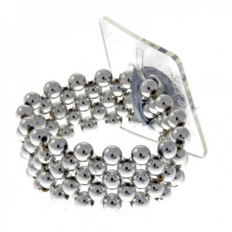 Little Lady Kids Corsage Bracelet - Silver (6cm Diameter, 2pcs per pk)