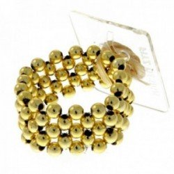 Little Lady Kids Corsage Bracelet - Gold (6cm Diameter, 2pcs per pk)