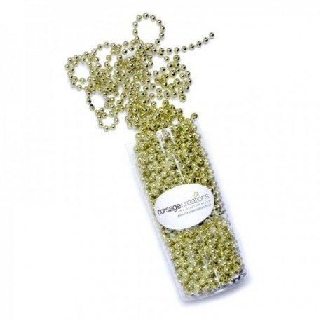 8mm Pearl Bead Chain - Gold (8mm x 10m)
