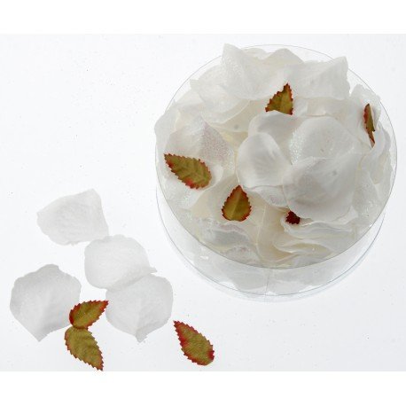 Glittered Rose Petals - White with Iridescent Glitter (164pcs per pk)