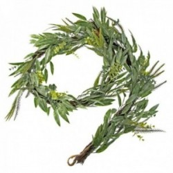 Mixed Foliage Garland - Green (182cm Long)