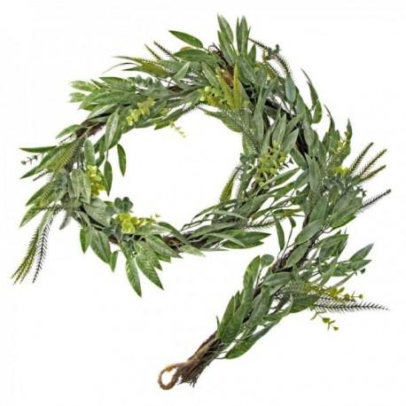 Mixed Foliage Garland - Green (182cm Long)