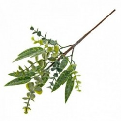 Mixed Foliage Spray - Green (46cm Long)