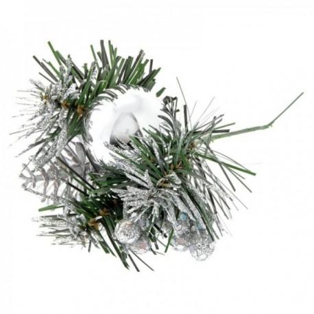 Silver Ball Christmas Pick - Silver (6pcs per pk, 20cm long)