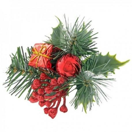 Red Present Christmas Pick - Red (6pcs per pk, 20cm long)