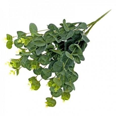 Silk Eucalyptus Bush - Green (45cm Long)