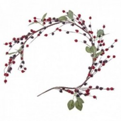 Berry Garland with Leaves - Red & Burgundy (90cm Long)