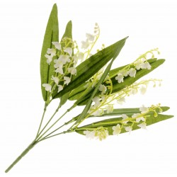 Silk Lily of the Valley - White & Green (32cm Long)