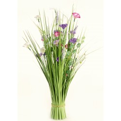 Meadow Flowers - Hot Pink, Purple & Cream (70cm Long)