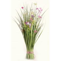 Meadow Flowers - Hot Pink, Purple, Yellow & White (70cm Long)