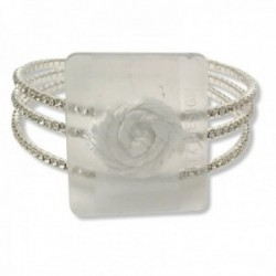 All That Jazz Corsage Bracelet - Silver