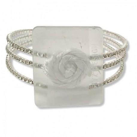All That Jazz Corsage Bracelet - Silver