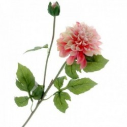 Dahlia - Pink (1 flower & 1 bud, 64cm long)