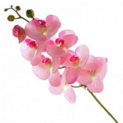 Real Touch Phalaenopsis Orchid - Pink (8 heads, 99cm long)