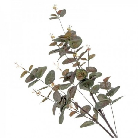 Mini Silk Spiral Eucalyptus Spray - Brown (90cm long)