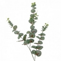Mini Silk Spiral Eucalyptus Spray - Dark Green (90cm long)