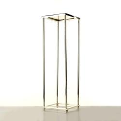 100cm Aurora Plinth - Silver (100cm tall, flat pack)