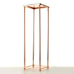 100cm Aurora Plinth - Rose Gold (100cm tall, flat pack)
