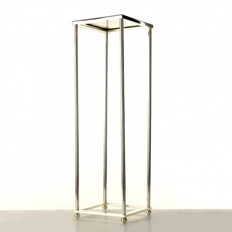 60cm Aurora Plinth - Silver (60cm tall, flat pack)