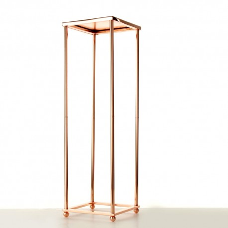60cm Aurora Plinth - Rose Gold (60cm tall, flat pack)