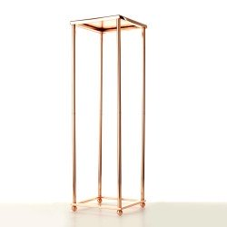 80cm Aurora Plinth - Rose Gold (80cm tall, flat pack)