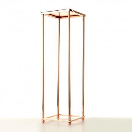 80cm Aurora Plinth - Rose Gold (80cm tall, flat pack)