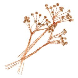 4mm Diamante Branch - Rose Gold  (3bunches x 6 stems per bag)