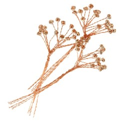 5mm Diamante Branch - Rose Gold  (3bunches x 6 stems per bag)