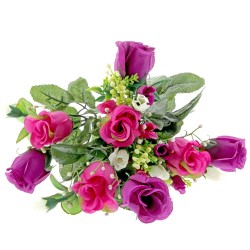 Mini Rose Bush - Purple, Pink, Cream (7Heads)