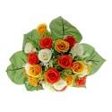 Rose and Stephanotis Bush - Yellow, Orange & Cream (24 Heads)