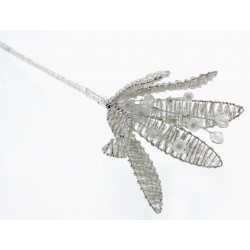 Crystal Flower - Silver (17.5cm Long)