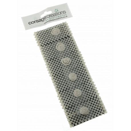 Classic Corsage Bracelet - Cream (6pcs per pk)