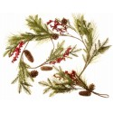 Pine Cone and Berry Garland - Natural (150cm long)