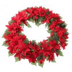 Poinsettia Wreath - Red (45cm Diameter)
