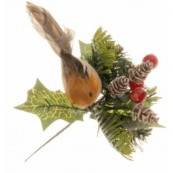 Robin Christmas Pick - Natural (6pcs per pk)