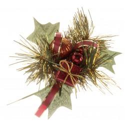 Burgundy Present Christmas Pick - Burgundy (6pcs per pk)