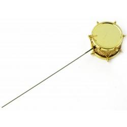 Drum Picks - Gold (3.5cm diameter on 13cm pick, 12 pcs per pk)