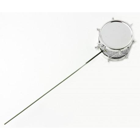 Drum Picks - Silver (3.5cm diameter on 13cm pick, 12 pcs per pk)