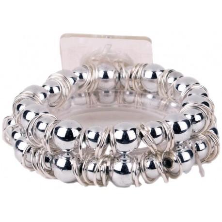 Gum Drop Flower Bracelet - Silver