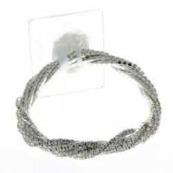 Twist Corsage Bracelet - Silver