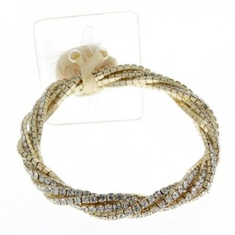 Twist Corsage Bracelet - Gold